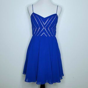Aidan Mattox Dress Size 6 Fit and Flare Royal Blue